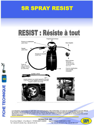 SR SPRAY RESIST